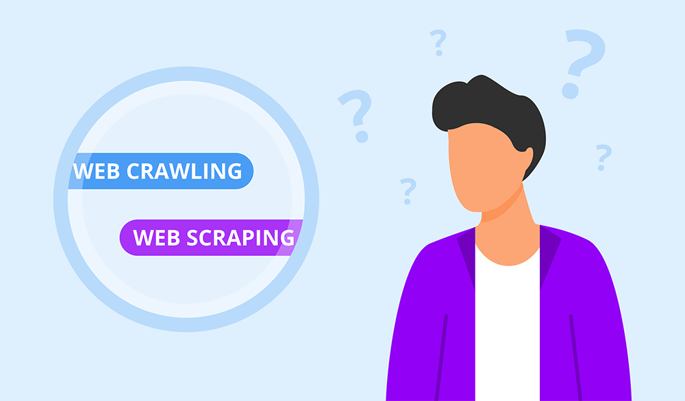 What is the difference between scraping and crawling?